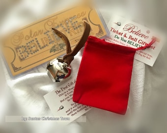 Polar Express 'BELIEVE' Ticket & The Magic Christmas Bell Gift Set!