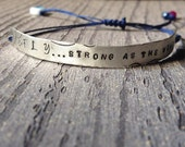 Personalized Bracelet | Id | Quote Bracetel| Customized | Sterling Silver, stamped, personalized