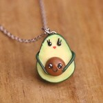 Avocado Necklace - Birth Necklace, Mother Necklace, Birth Gift, Mom & Child, Birthing Gift, Mommy Avocado necklace, Mother Gift, Baby Shower