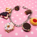 Candy Pastry Bracelet - Candy Jewelry - Miniature Food Jewelry, food jewelry, donut bracelet, pie bracelet, food bracelet, cinnamon roll