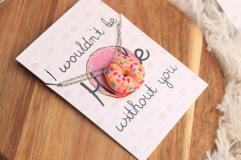 Donut friendship Necklaces  Best Friend Gift Friendship image 0
