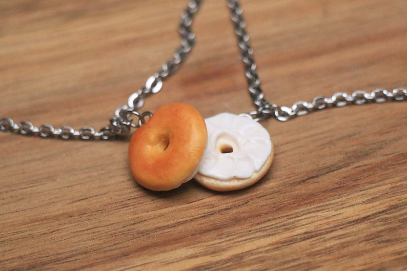 Bagel friendship Bracelets  Food Jewelry bff Bracelets image 0