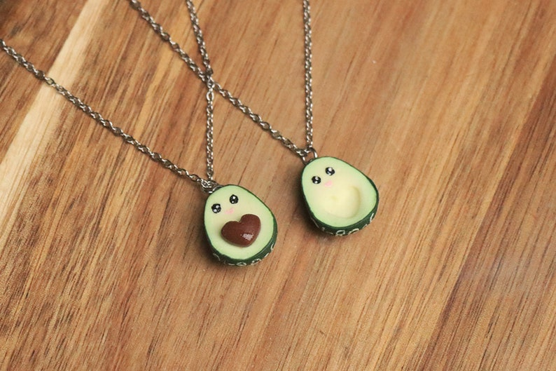 Avocado Kawaii Friendship Necklaces  Friendship Jewelry image 0