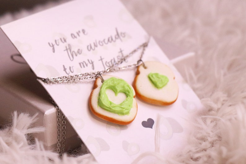 Avocado Friendship Necklaces Food Jewelry Food Necklaces image 0