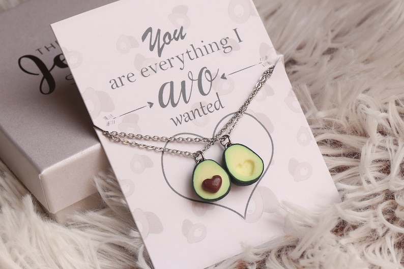 Avocado Friendship Necklace Or Keychains Avocado Necklace image 0