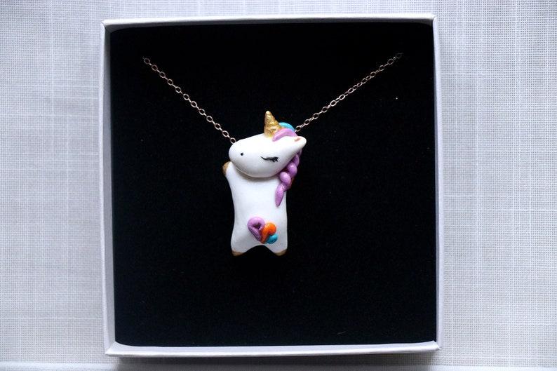 Unicorn Necklace  Girl Necklace  Kawaii Birthday Gift image 0