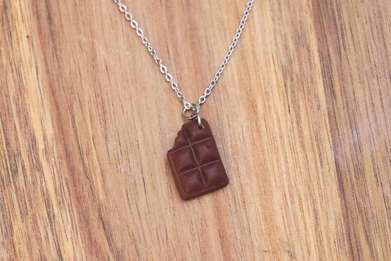 Chocolate Bar Necklace Food jewelry  Candy necklace  image 0