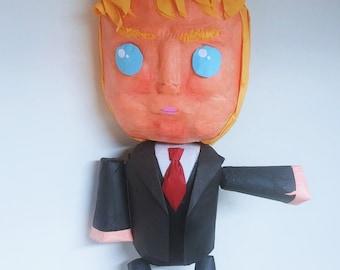 Puppet Top-line Donald Trump | Movable Limbs | Interactive Pinata | Rag Doll Pinata | Fun Party Game | Funny Photo Prop | Donald Trump Decor