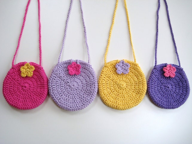 Crochet Bag Pattern Round Circle Purse Bag Instant Download Etsy