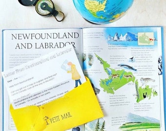 Letter From Newfoundland and Labrador - Homeschool Resource - Canadian Studies - Kid Mail - Happy Mail - Geography - Letter From Canada