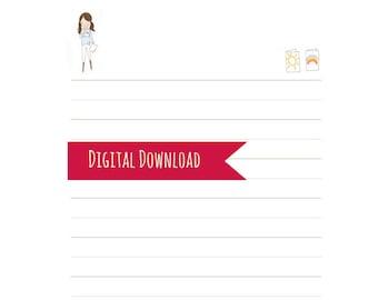 Kids Stationery - Snail Mail Stationery - Kids Pen Pal Set - Children's Paper Set - Digital Download - Kids Letter Writing Set