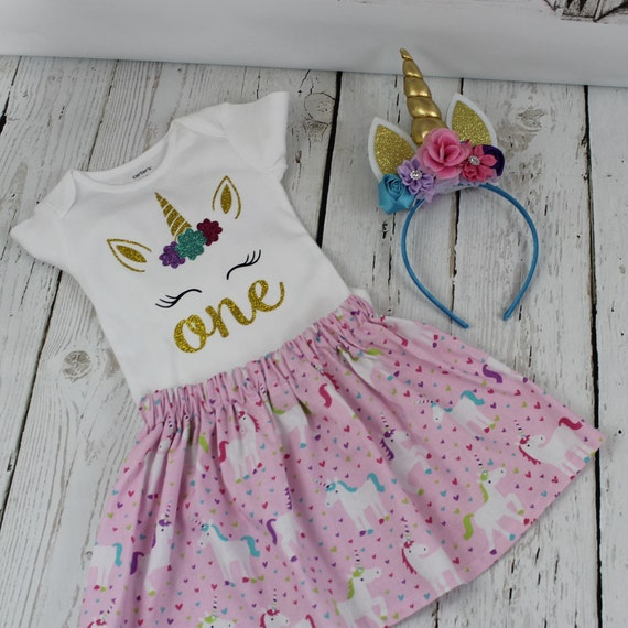 50d49a1506fa Unicorn Birthday Outfit Baby Girls 1st 2nd 3rd 4th 5th 6th