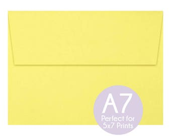 yellow a7 envelopes etsy