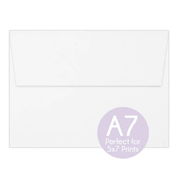 white a7 envelopes 5x7 invitation envelopes 5x7 white etsy