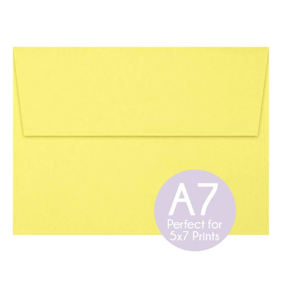 pastel canary a7 5x7 envelopes 5x7 invitation envelopes etsy