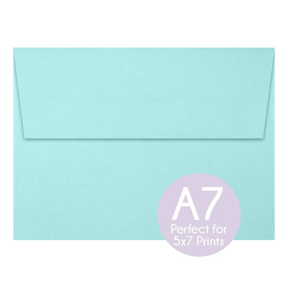 seafoam blue green a7 5x7 envelopes 5x7 invitation
