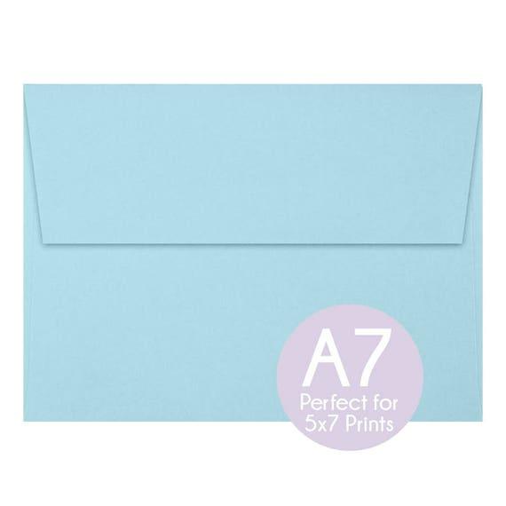 pastel blue a7 5x7 envelopes 5x7 invitation envelopes etsy
