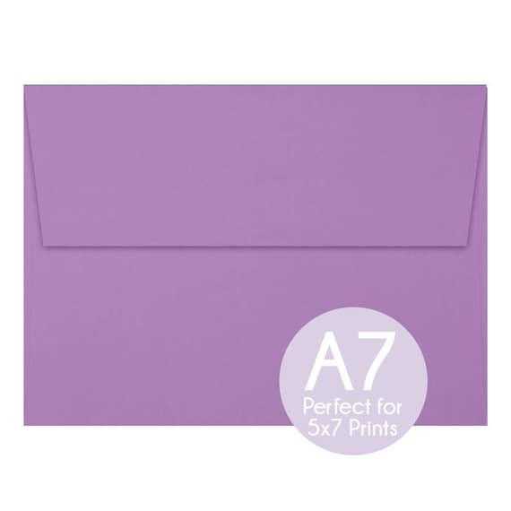 violet purple a7 5x7 envelopes 5x7 invitation envelopes etsy