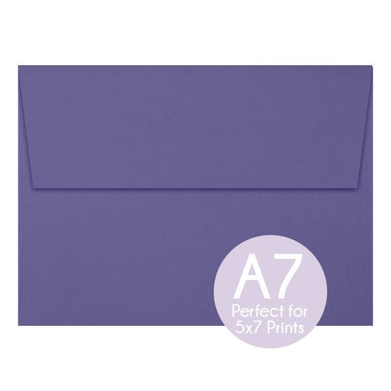wisteria purple a7 5x7 envelopes 5x7 invitation envelopes etsy