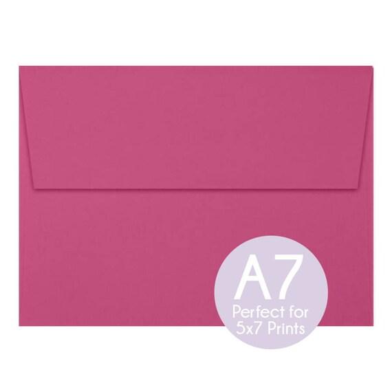 magenta pink a7 5x7 envelopes 5x7 invitation envelopes etsy
