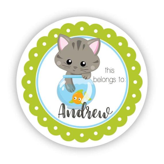 añade tu nombre Gato Gatitos Diseño de punto de Gato Personalizado Marrón Tazón de fuente de gato