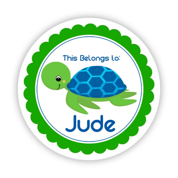 Back To School 2 Personalized Round Stickers