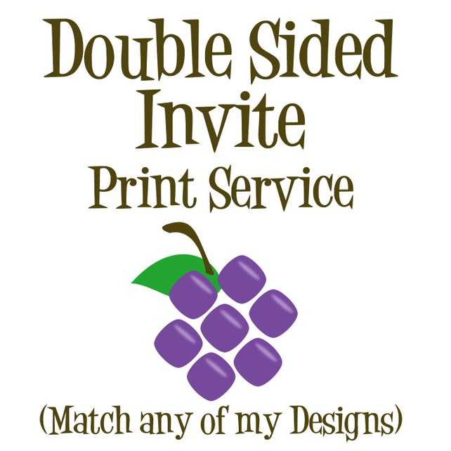 Double Sided Invitation Print Service A7 5x7 Cardstock Double