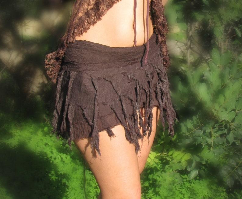 Pixie Skirt Gypsy Skirt Burning Man Skirt Bohemian Skirt Forest Skirt Fairy Skirt Tribal Skirt Fringe White Skirt Tarzan Skirt