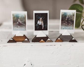 Mountain Wooden Photo Holders (5 Pack) - Wanderlust + Adventure Gift