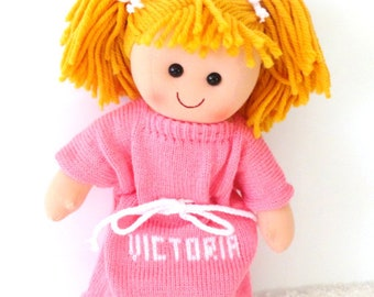 c63a5b5448e Golden Blonde Hair Personalized Doll