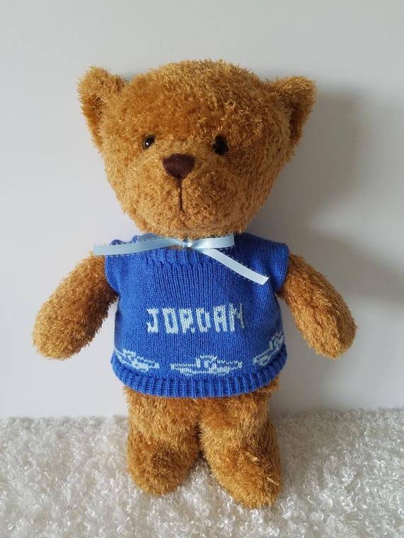 2404f93b5 Personalized Teddy Bear New Baby Gift Baby Boy Keepsake Boy