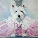 PRINT Westie West Highland Terrier Dog Art Oil Painting / Mary Sparrow