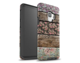 Galaxy S8 Case, Galaxy S8 Plus, Roses, Wood Style, Galaxy S9 Case, Galaxy S9 Plus, Galaxy S7 Case, Galaxy S7 Edge, Note 8 Case, Floral Art
