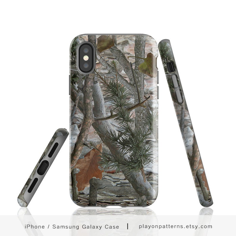 buy popular 72fa5 7f7e6 Camo, iPhone X Case, Phone Case, Camouflage, Hunting, iPhone 8, iPhone 8  Plus, Realistic Forest Camouflage, iPhone 7, iPhone 7 Plus, Case