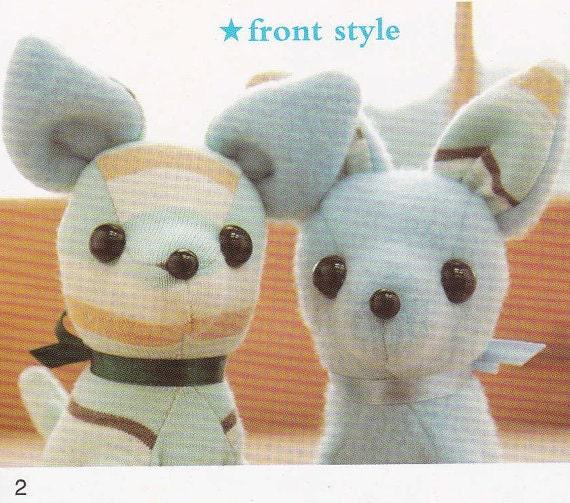 Cute Chihuahua Dog Puppy Mascots Stuffed Plush Toy Doll Sewing Etsy