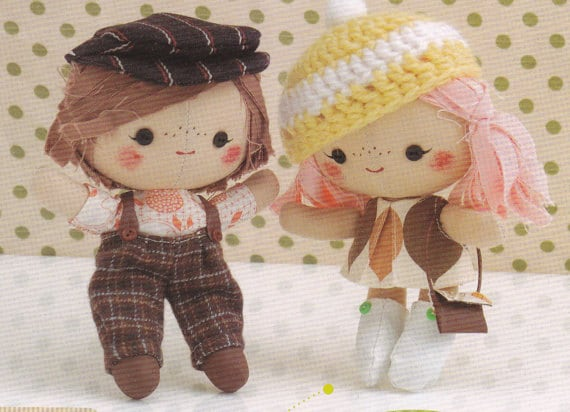 3 Cute RagDolls Mascots Boy Girl Plush Dolls with Outfits  27a5ef8e353b
