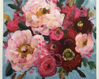 Original Floral Painting by Sharon Montgomery