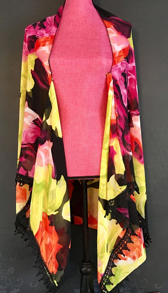 100% Silk Cape/Poncho/Shoulder Wrap