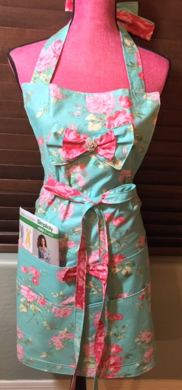 Plus Size Gorgeous Shabby Chic Apron/ Custom Apron