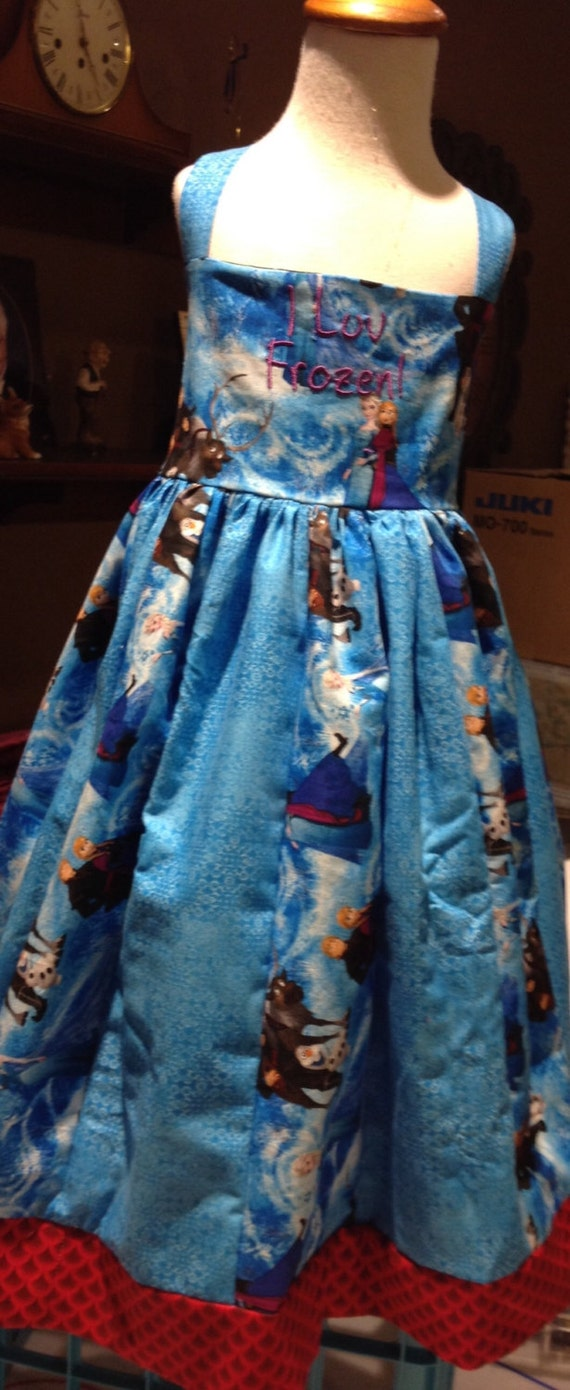 Frozen little girls dress/birthday frozen dress/party frozen dress