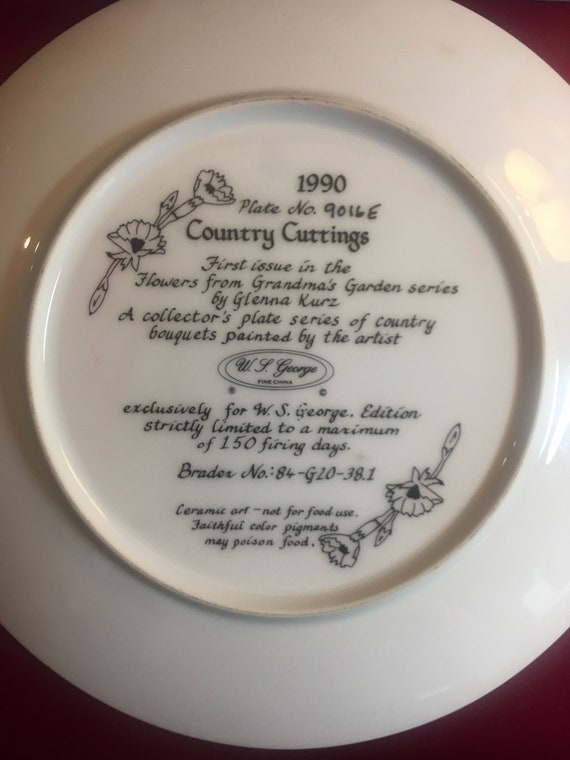 WS George Collectors Plate/Country Cuttings