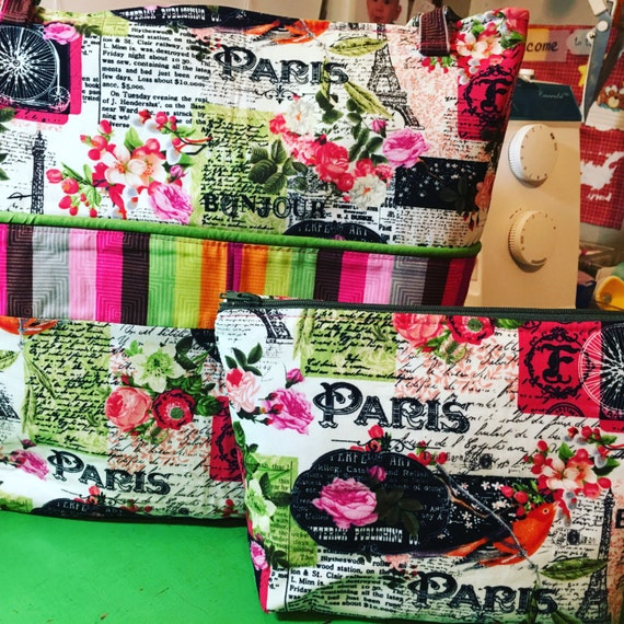 Gorgeous Paris Custom Lap Top Bag/ Market Tote/ Cross Body Bag/Tri Fold Wallet