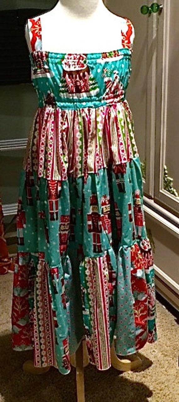 Gorgeous Christmas maxi dress, little girls Christmas Dress/ Maxi Dress