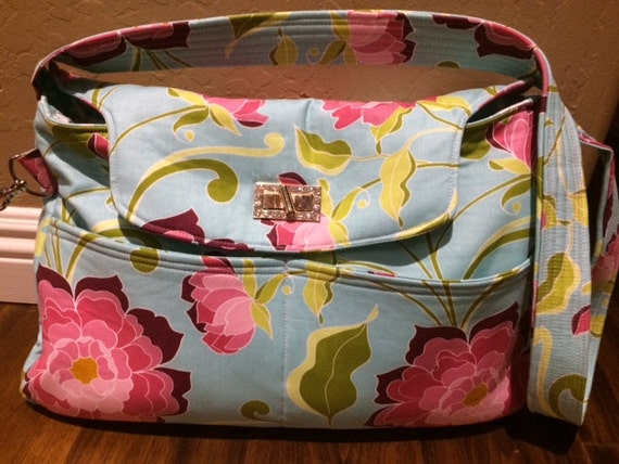 Lila Tueller Fabric Purse/handbag/tote/diaper bag