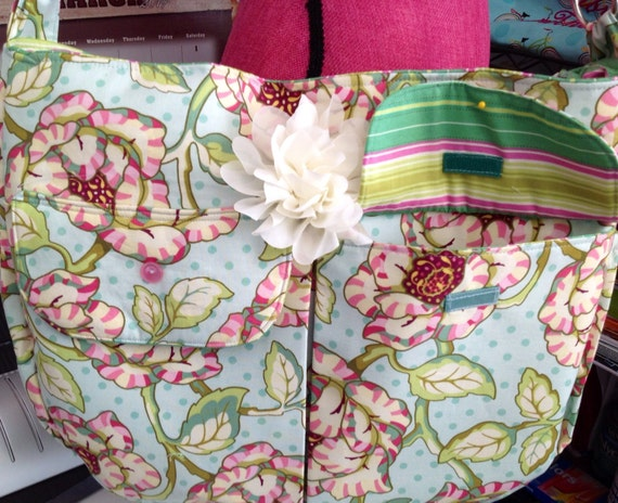 Shabby chic floral diaper bag for mom!