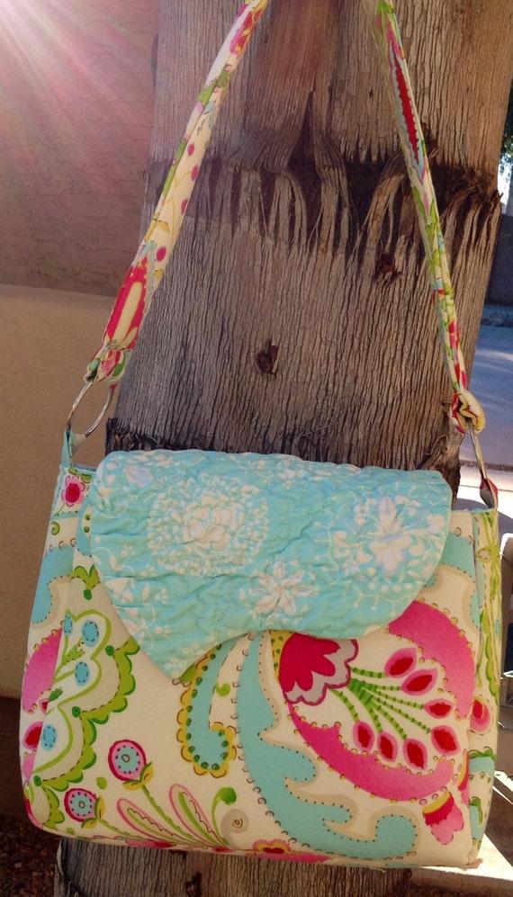 Designer Dena designs textured flap Mindy purse