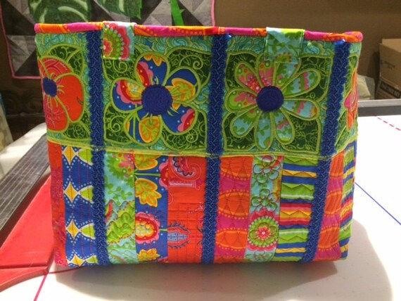 Beautiful large tote all made in the embroidery hoop/purse/overnight bag