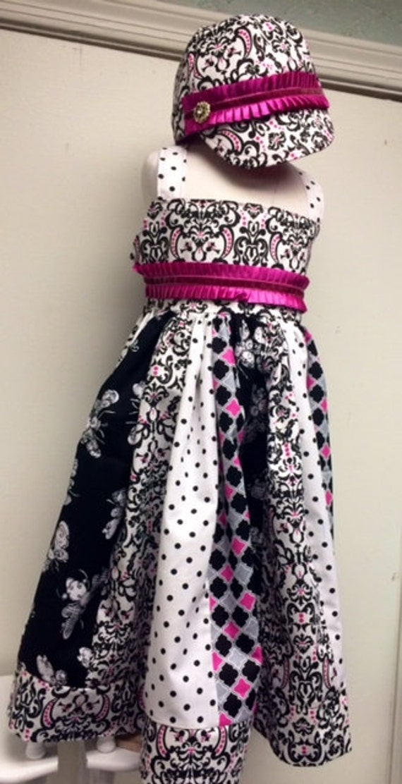Birthday dress/party dress/little girls dress/ with hat