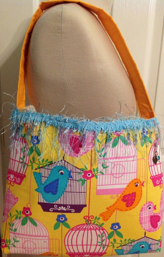 Adorable little girls birds cage purse
