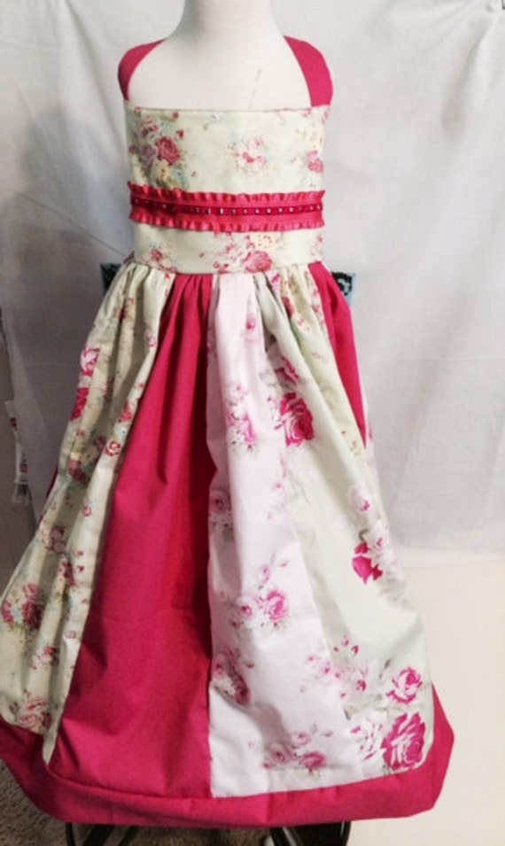 Gorgeous Roses Dress size 10, Tea Party Dress, Birthday Dress